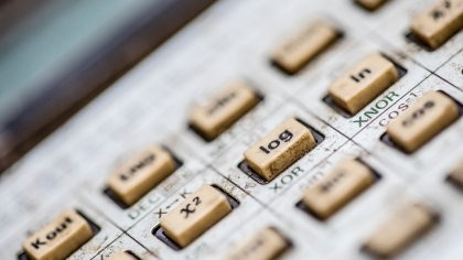Macro Shot of Calculator Keyboard